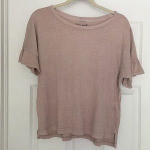 Abercrombie & Fitch Ruffle Sleeve Tee